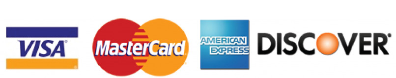 visa mastercard and discover accepted